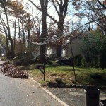 Hurricane Sandy aftermath along Sand Road, Westwood, NJ (11/5/2012).