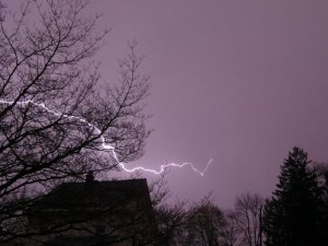 Horizontal lightning storm over the Pascack Valley, 4/2/2016.