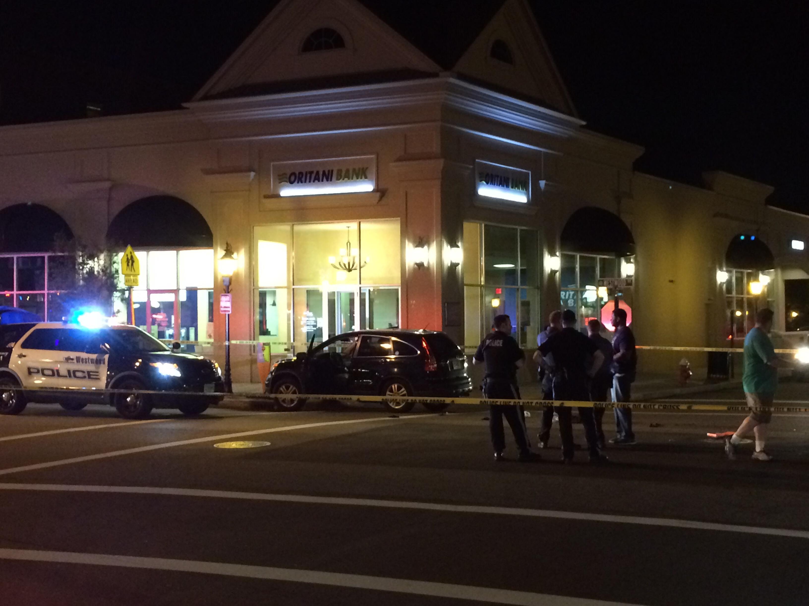 Motor vehicle accident, Westwood Ave.